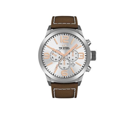 TW-Steel TW-Steel TWMC11 horloge met bruin leren band