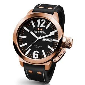 TW-Steel Reloj TW Steel CE1022 rosa con correa de piel negra.