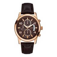 Guess Guess Exec W0076G4 watch rose 44mm with brown leather strap