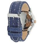 Guess Watch Guess W0289L1 Jet Setter analog watch ladies rosé 39mm blue textile leather strap