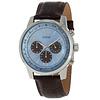 Guess Watch Guess W0380G6 Horizon chronograph watch men 45mm brown croco leather strap
