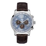 Guess Guess Horizon W0380G6 horloge 45mm met bruin leren band