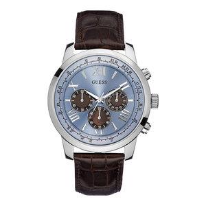 Guess Guess Horizon W0380G6 orologio 45mm con cinturino in pelle marrone