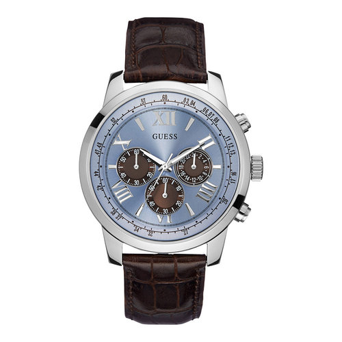 Guess Guess Horizon W0380G6 watch 45mm with brown leather strap