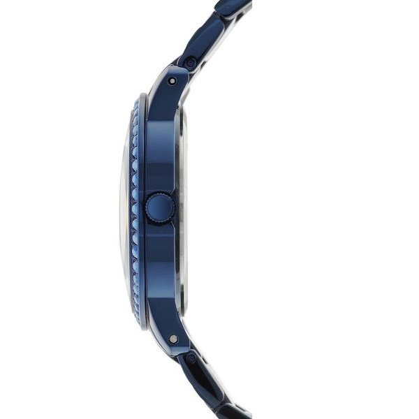 Guess Watch Guess W0502L4 Indulge analogue ladies watch blue 36mm steel - Iconic Blue