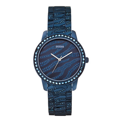 Guess Horloge Guess W0502L4 Indulge analoog dameshorloge blauw 36mm staal - Iconic Blue