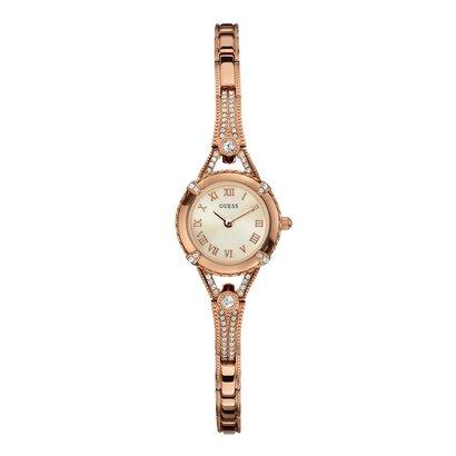 Guess Horloge Guess W0135L3 Angelic dameshorloge rosékleurig 22mm staal Zirkonia kristallen