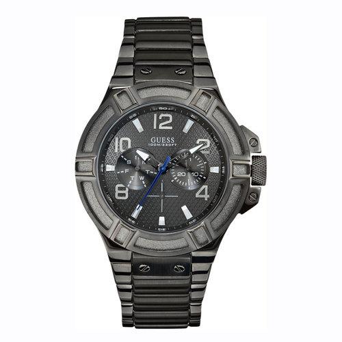 Guess Reloj Guess Rigor W0218G1 para hombre gris oscuro 45 mm