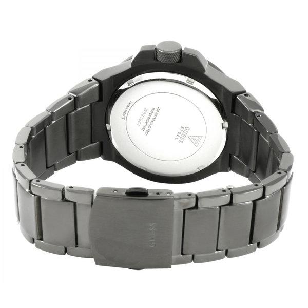 Guess Horloge Guess W0218G1 Rigor analoge stalen herenhorloge donkergrijs 45mm Gunmetal Grey