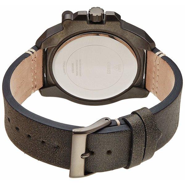 Guess Horloge Guess W0659G3 Viper analoge herenhorloge donkergrijs 46mm leren band
