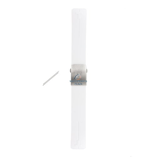 Tissot Tissot T603027565 horlogeband 21 mm witte siliconen band T013420A