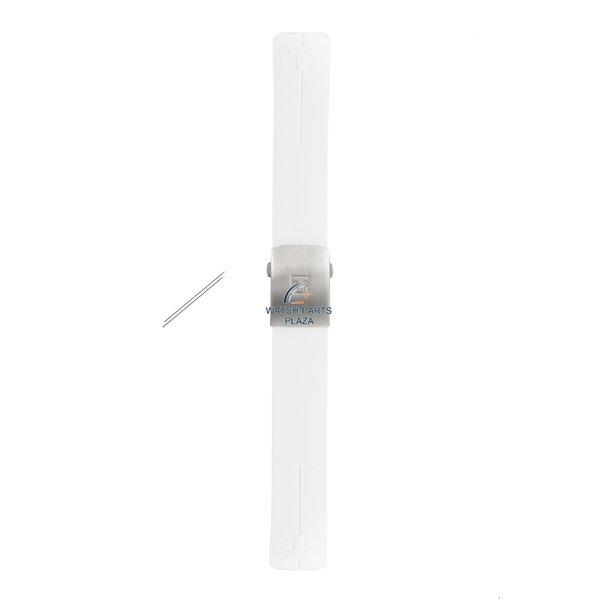 Tissot Horlogeband Tissot T013420 / T047420 T-Touch Expert siliconenband wit 21 mm T603027565