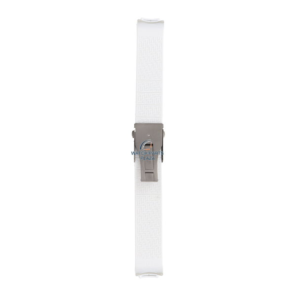 Tissot Horlogeband Tissot T3376 / T3378 T-Touch witte siliconen band 20 mm Z253 Danica Patrick