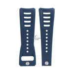 Diesel Horlogeband Diesel DZ3039 blauwe rubber en leren bandje 30 mm origineel