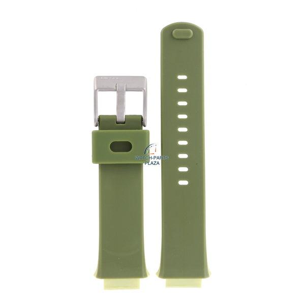 Diesel Horlogeband Diesel DZ3020 groene band 16mm origineel rubber DZ-3020