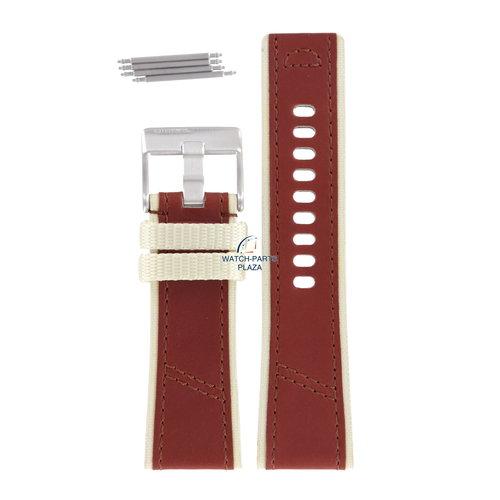 Diesel Diesel DZ-2060 horlogeband bruin leer 27 mm