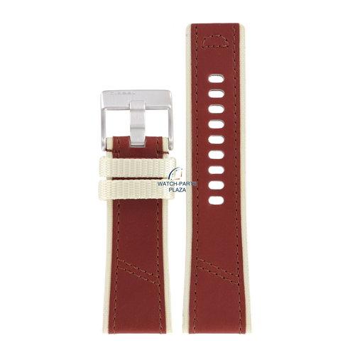 Diesel Horlogeband Diesel DZ2060 bruin lederen band 27mm origineel DZ2062