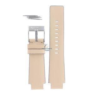 Diesel Bracelet de montre Diesel DZ-1048 en cuir beige 18 mm