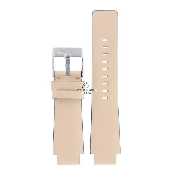Diesel Horlogeband Diesel DZ1048 crème lederen band 18 mm origineel beige