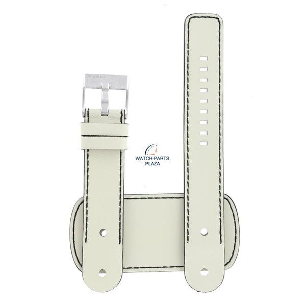 Diesel Watch Strap Diesel DZ2054 white cuff genuine leather band 22mm original