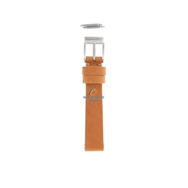 Diesel Watch Band Diesel DZ2075 orange / brown half leather replacement strap 14mm