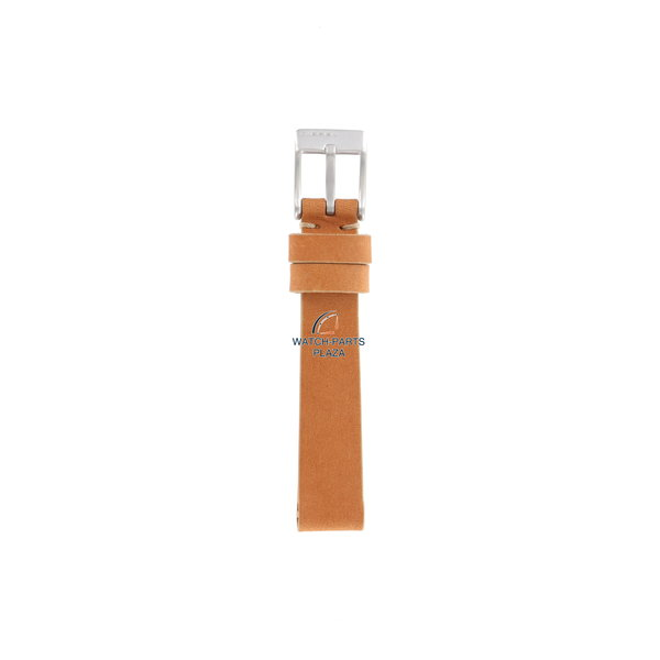 Diesel HorlogeBand Diesel DZ2075 oranje / bruine half lederen vervangende band 14 mm
