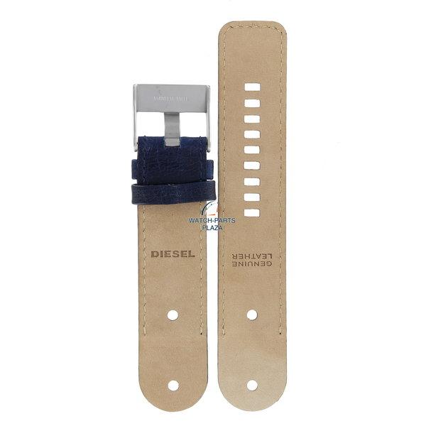 Diesel Watch Band Diesel DZ2018 blue leather strap 26mm original DZ-2018