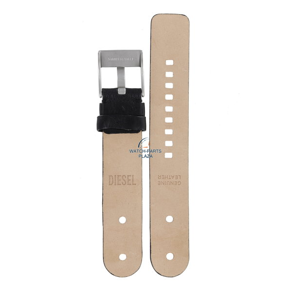 Diesel Watch Band Diesel DZ1001 / DZ1002 black leather strap 20mm original strap