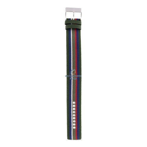 Diesel Diesel DZ-2057 horlogeband groen canvas / leer 27 mm