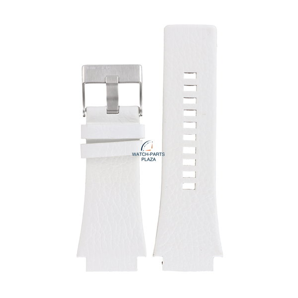 Diesel Watch band Diesel DZ1449 Cliffhanger Big white leather strap 25mm original