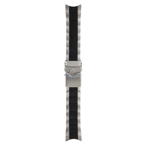 Seiko Seiko 300T1NM horlogeband 7S36 03G0 zwart staal 22mm 3OOT1
