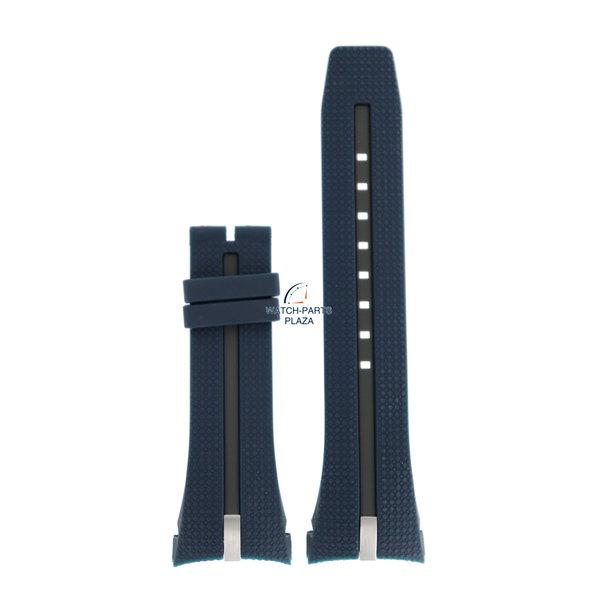 Breil Bracelet de montre Breil Milano BW0427 bleu bracelet en silicone F260053451 31 mm