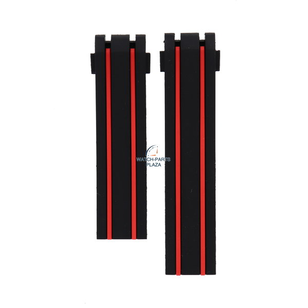 Tissot Tissot T-Race MotoGP T092417 / T092427 horlogeband zwart / rood 20mm T092.417.27.201 origineel