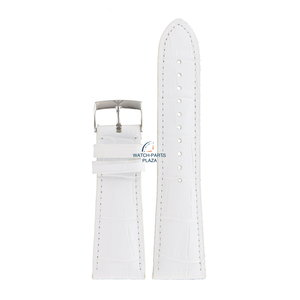 Armani Bracelet de montre Armani AR 0287 en cuir blanc de 24 mm
