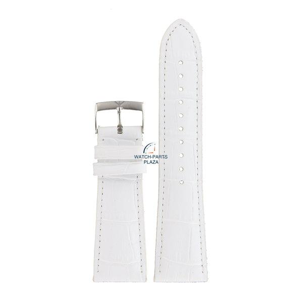 Armani Emporio Armani Carmelo AR0287 correa de reloj de cuero blanco 24mm AR-0287 correa genuina