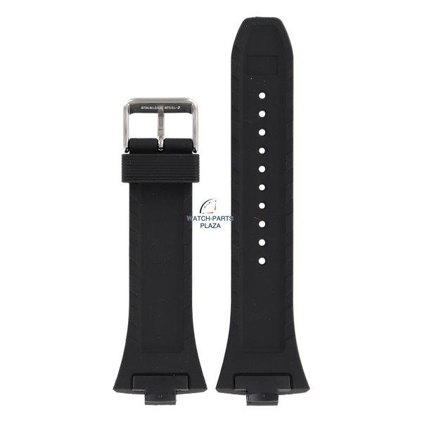 Pulsar Bracelet de montre Pulsar Série PF3 7T62-X133 / VX42-X124 bande noire PF3505X1 / PXH383X1 28mm