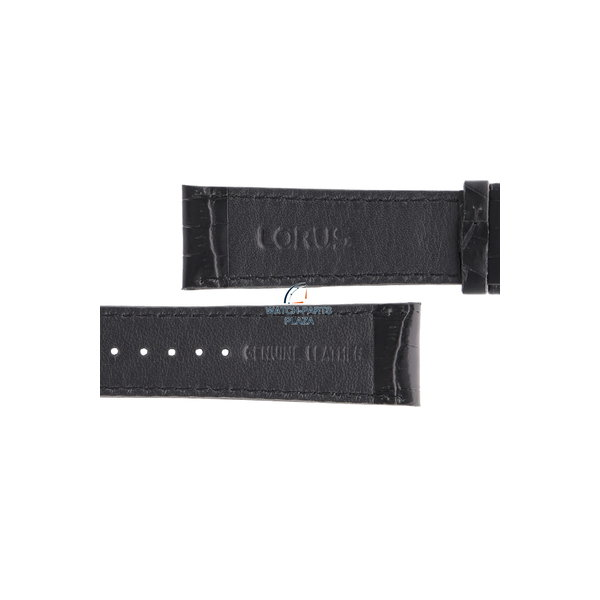 Lorus Lorus VD57-X015 black genuine leather watch strap 22mm RM371AX9