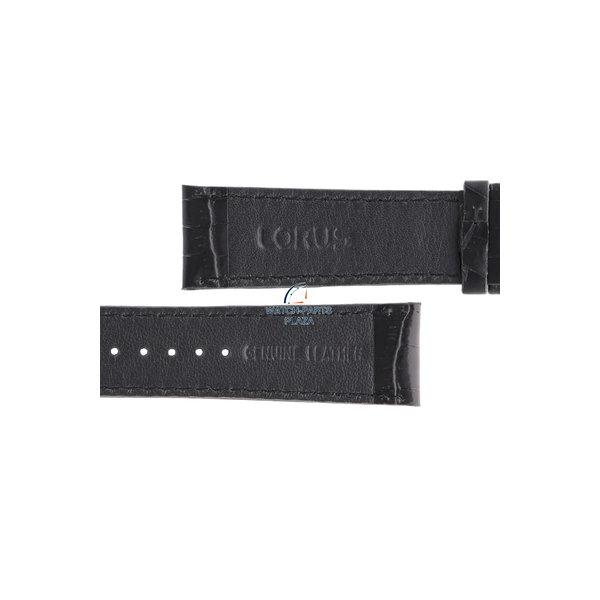 Lorus Lorus VD57-X015 bracelet de montre en cuir véritable noir 22mm RM371AX9