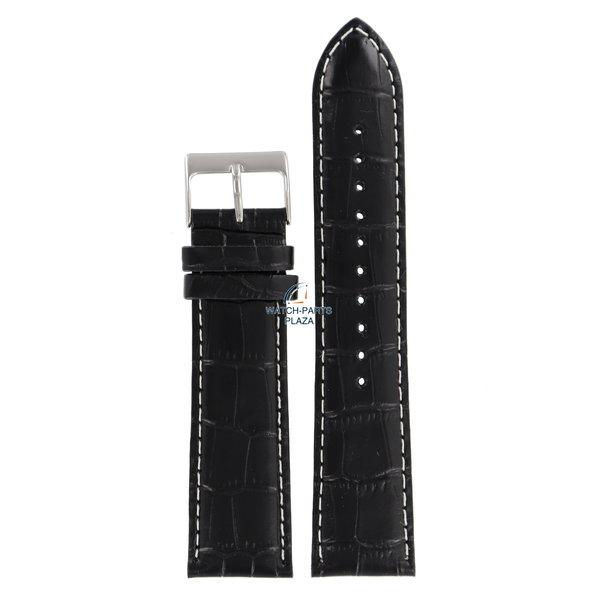 Lorus Lorus VD57-X015 zwart lederen horlogeband 22mm RM371AX9