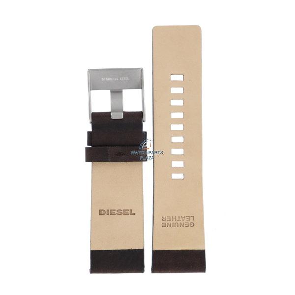 Diesel Reloj Band Diesel DZ1272 correa de cuero marrón oscuro 26mm original