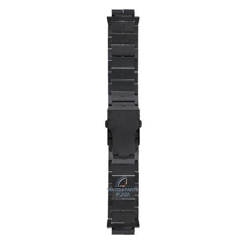 Diesel Bracelet de montre en acier inoxydable noir Diesel DZ1082 Bracelet DZ-1082 de 18mm