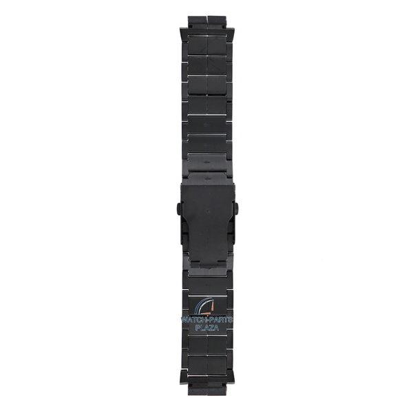 Diesel Diesel DZ1082 correa de reloj de acero inoxidable negro 18mm DZ-1082 pulsera
