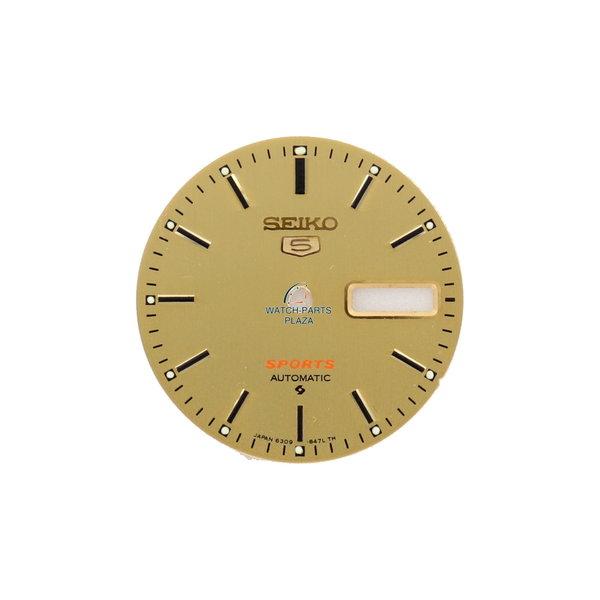 Seiko Seiko 5 Sports 6309-836B cadran de remplacement en or SDE451 original montre vintage