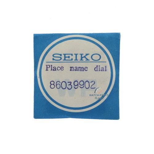 Seiko Seiko World Time 6117 6400/6409 dial / capítulo anillo negro original 86039902