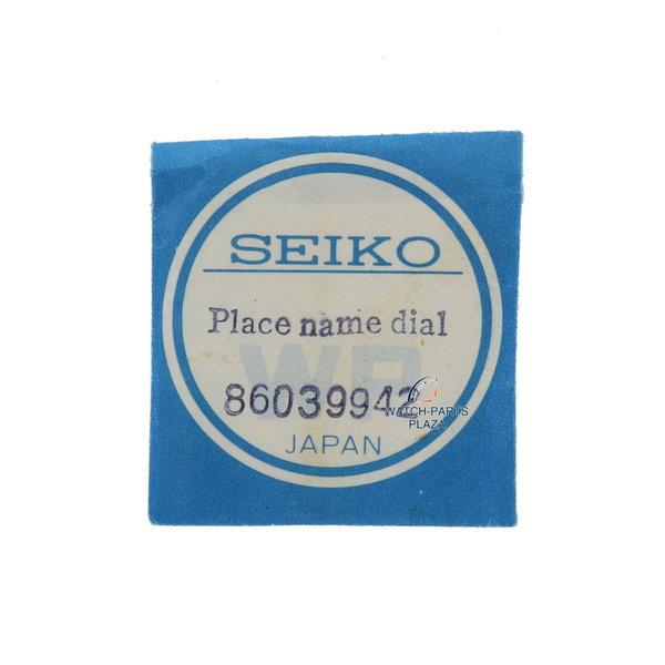 Seiko Seiko World Time 6117-6010 esfera negra / anillo de capítulo original 86039942