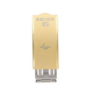 Seiko Chiusura Seiko B1353G / B1623G-BK in acciaio inossidabile oro 16 mm
