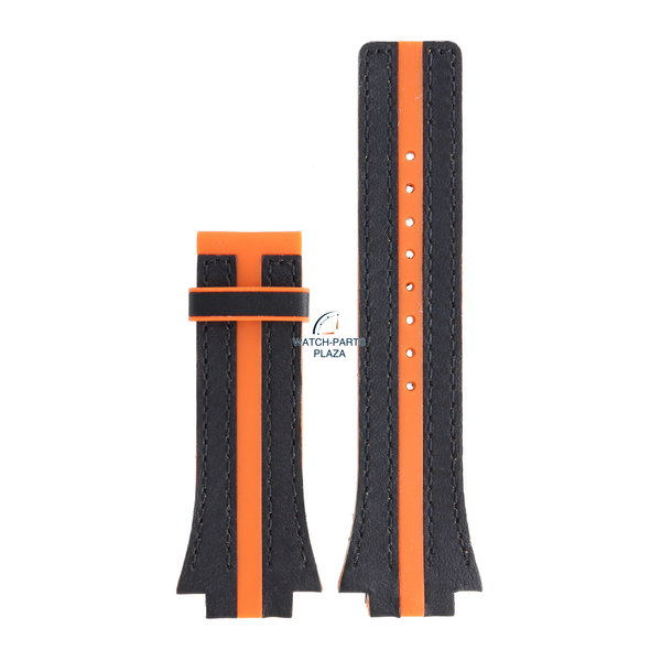 Festina Festina BC05033 Horlogeband F16184, F16184/E rubber & leer oranje 18 mm - Nine Collection
