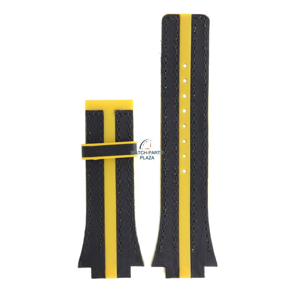 Festina Festina BC04531 Watch band F16184, F16184/5 rubber & leather yellow 18 mm - Nine Collection