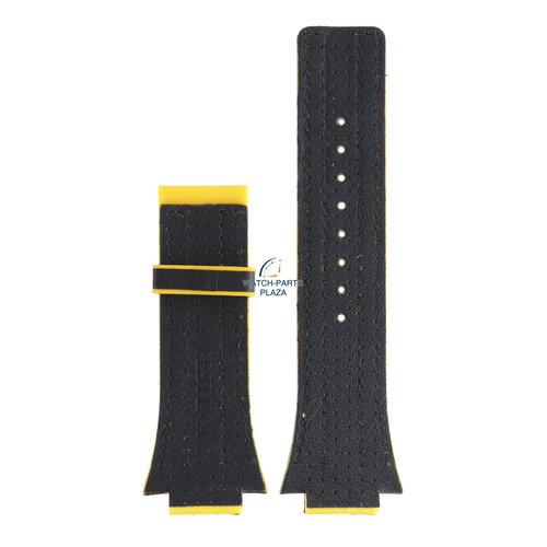 Festina Festina BC04531 Horlogeband F16184, F16184/5 rubber & leer geel 18 mm - Nine Collection