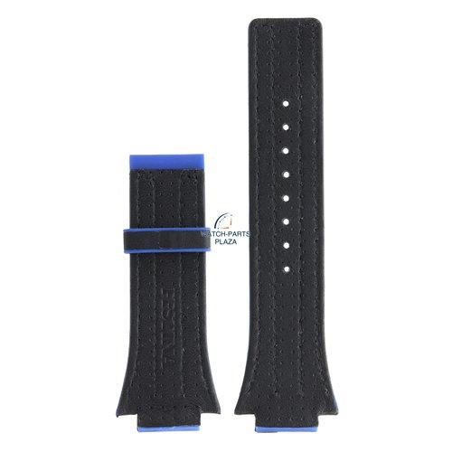 Festina Festina BC04533 Horlogeband F16184 rubber & leer blauw 18 mm - Nine Collection